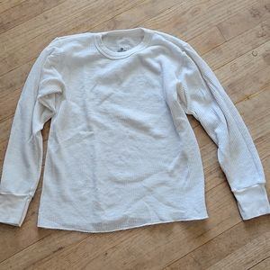 Indera Size M White Thermal Long Sleeve